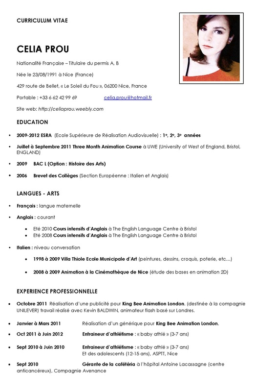 help for english curriculum vitae